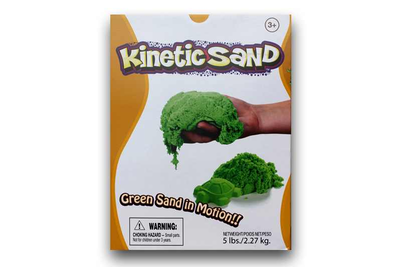 Kinetic Sand Green (Verde) Waba Fun Suedia - 2.27 Kg