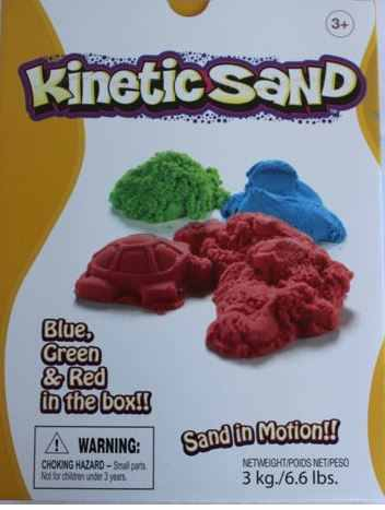 Kinetic Sand Waba Fun Suedia Red - Green - Blue 3 Kg